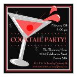 Invitation rouge de cocktail de Martini