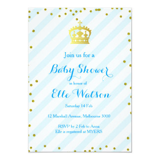 Invitation royale de prince baby shower