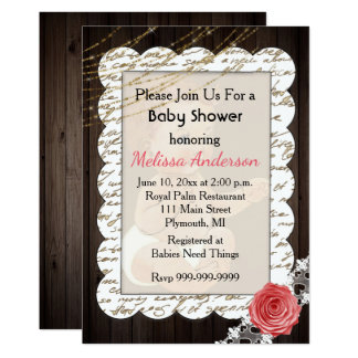 Invitation rustique de baby shower de pays