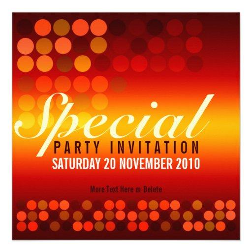 Invitation spéciale de partie d'éclat d'or