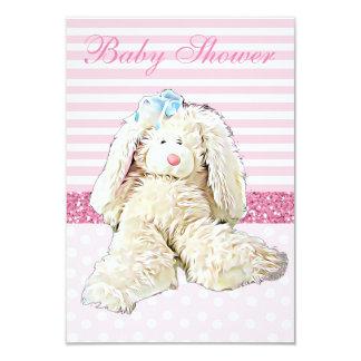 Invitation vintage de baby shower de lapin de