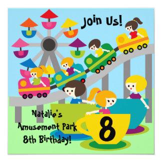 Invitations customisés d'anniversaire de parc