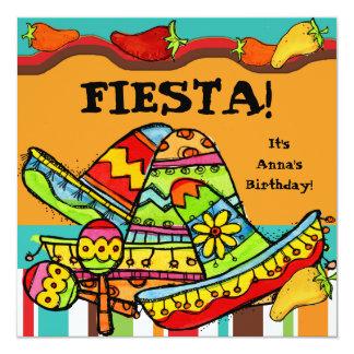 Invitations d'anniversaire customisées par fiesta