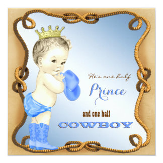 Invitations de baby shower de cowboy