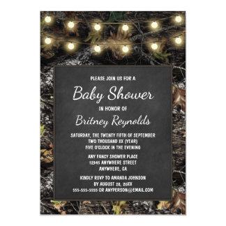 Invitations de baby shower de tableau de Camo de