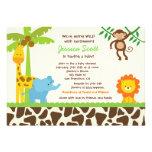 Invitations de baby shower de zoo de jungle de saf