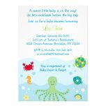 Invitations de baby shower d'océan de créature de