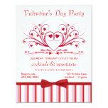 Invitations de cocktail de Saint-Valentin