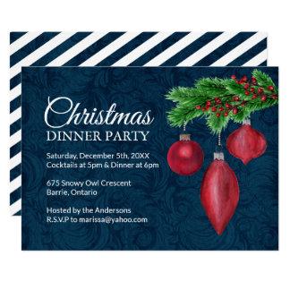 Invitations de dîner de Noël