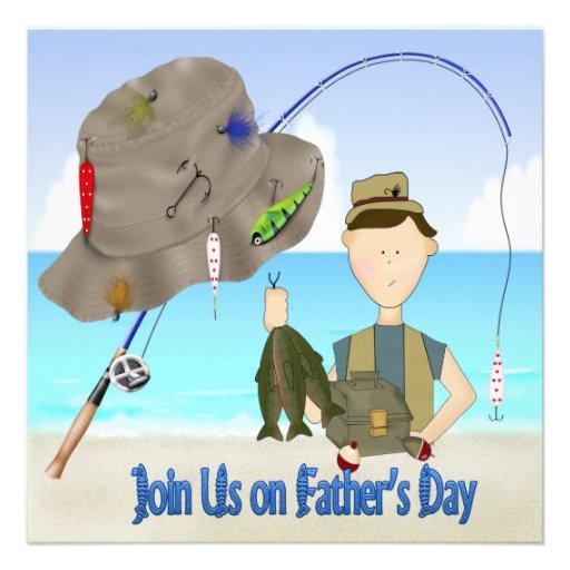 Invitations de partie de fête des pères de pêche
