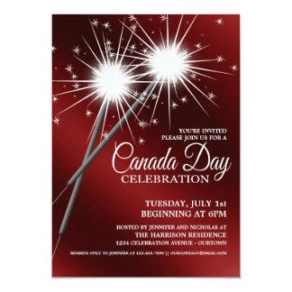 Invitations de partie de jour du Canada de cierges