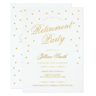 Invitations d'or de partie de retraite