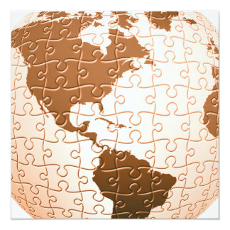 Invitations globales de puzzle carton d'invitation  13,33 cm