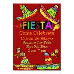 Invitations mexicaines de Cinco De Mayo de fiesta Carton D'invitation 12,7 Cm X 17,78 Cm