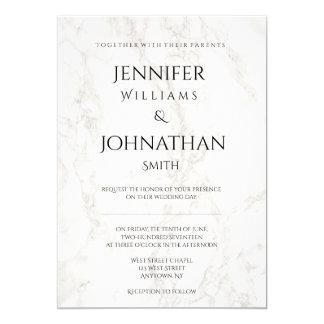 Invitations modernes de marbre de mariage