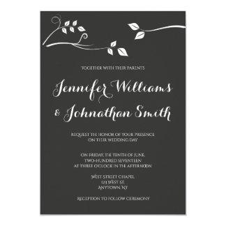 Invitations modernes de mariage de branche de