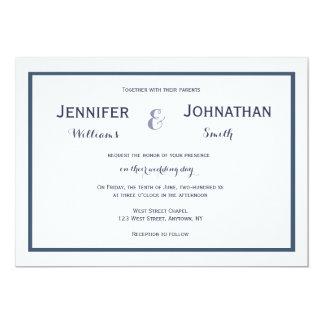 Invitations modernes de mariage de frontière de