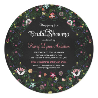 Invitations nuptiales de douche de tableau floral carton d'invitation  13,33 cm