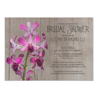 Invitations nuptiales de douche d'orchidée