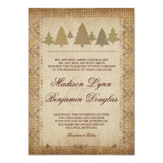 Invitations rustiques de mariage de automne de