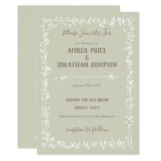 Invitations rustiques de mariage de frontière