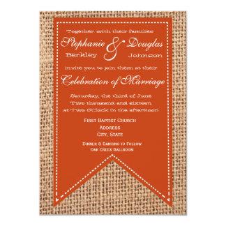 Invitations rustiques de mariage d'impression de
