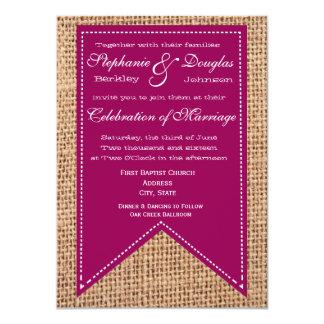 Invitations rustiques de mariage d'impression