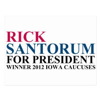 Iowa-Ausschüsse für Wahlangelegenheiten 2012 Postkarte