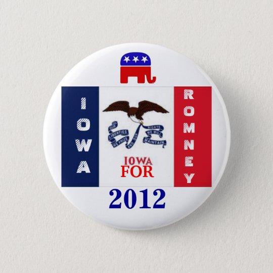 Iowa für Romney 2012 Runder Button 5,1 Cm