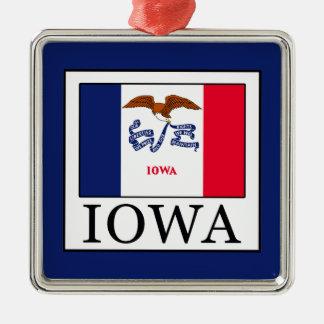 Iowa Silbernes Ornament