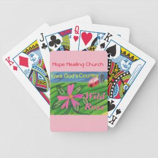 Iowa-Staats-Blumen-wilde Rose, die Poker-Karten Bicycle Spielkarten