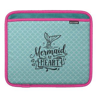 iPad Auflage - Meerjungfrau am Herzen Sleeve Für iPads