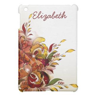 iPad floral d'été rouge mini Étuis iPad Mini