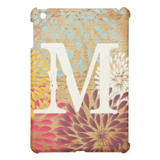 iPad floral moderne vintage d'Emphera Monogam mini Coques iPad Mini