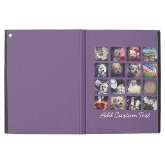 """iPad Pro 12.9"""" Case Collage de photo avec l'arrière - plan d'aubergine"""