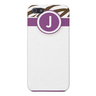 iPhone 4 Funky Zebra-Druck-Kasten lila/Schokolade Schutzhülle Fürs iPhone 5