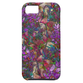 iPhone 5 Fall-abstraktes beflecktes mit Blumenglas iPhone 5 Hüllen