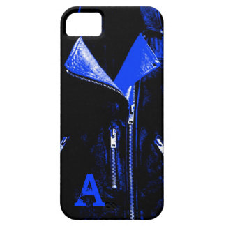 iPhone 5 Monogramm der Lederjacke blauer Kasten Barely There iPhone 5 Hülle