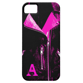 iPhone 5 Monogramm der Lederjacke rosa Fall iPhone 5 Hülle