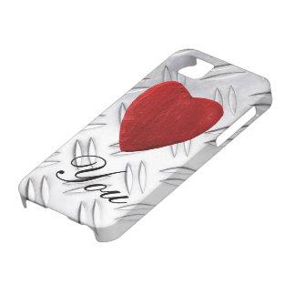 iPhone 5 Riffelblech Hintergrund Love you iPhone 5 Schutzhülle