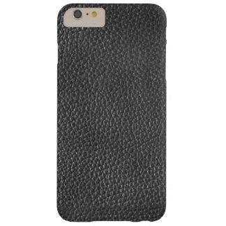 Iphone 6/6s des hommes en cuir noirs de texture coque barely there iPhone 6 plus