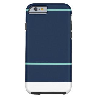 iPhone 6/6s Marine u. aquamarines Streifen-Muster Tough iPhone 6 Hülle