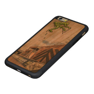 iPhone 6/6s Stoßkirschholz-Kasten Carved® Cherry iPhone 6 Plus Bumper Hülle