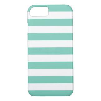 iPhone 6 Fall - Türkis-mutige Streifen iPhone 8/7 Hülle
