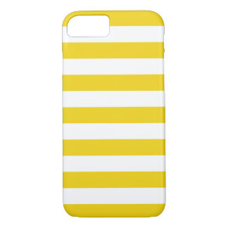iPhone 6 Fall - zitronengelbe mutige Streifen iPhone 8/7 Hülle
