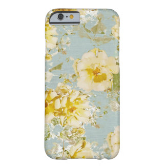 iPhone 6 fleurs bleues vintages de cas Coque Barely There iPhone 6