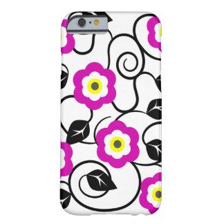 iPhone 6 lila Blumen-und Schwarz-Blätter-Kasten Barely There iPhone 6 Hülle