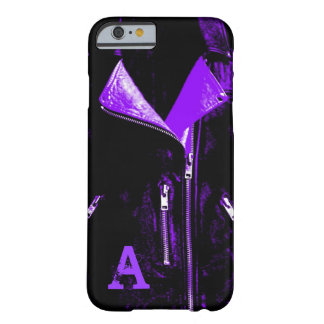 iPhone 6 Monogramm der ledernen Jacke lila Kasten Barely There iPhone 6 Hülle