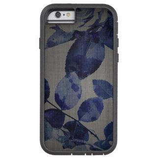 iPhone 7 Fall-blaues Blumen-Muster auf Grau Tough Xtreme iPhone 6 Hülle