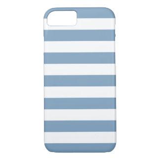 iPhone 7 Fall - Dämmerungs-blaue mutige Streifen iPhone 8/7 Hülle
